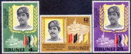 BRUNEI 1968 SG 151-53 Compl.set Used Installation Of New Sultan - Brunei (...-1984)