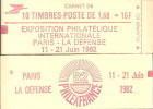"""CARNET 2187-C 2c Liberté De Delacroix """"PHILEXFRANCE 82"""" Avec """"10 Sous Logo"""" Conf.6 Ou Conf. 5. Bas Prix Parfait état. - Libretti"""