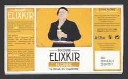 Etiquette De Bière Blonde  -  Le Péché Du Chamoine  -    Brasserie Elixkir  à  Couternon  (21) - Beer