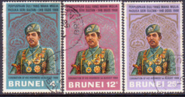 BRUNEI 1968 SG 157-59 Compl.set Used Coronation Of The Sultan - Brunei (...-1984)