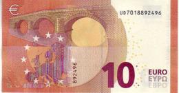 (Billets). 10 Euros 2014 Serie UD , U001B5 Signature Mario Draghi UNC  N° UD 7018892496 - EURO