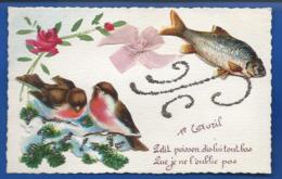 1° Avril Poisson Oiseaux Ruban     Ajouti - Erster April
