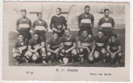 ° FOOTBALL ° R.C. PARIS ° PHOTO MIROIR DES SPORTS ° PHOTO FORMAT CARTE POSTALE ° - Calcio