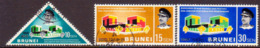 BRUNEI 1968 SG 160-62 Compl.set Used Opening Of Language And Literature Bureau - Brunei (...-1984)
