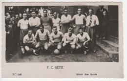 ° FOOTBALL ° F.C. SETE ° PHOTO MIROIR DES SPORTS ° PHOTO FORMAT CARTE POSTALE ° - Soccer
