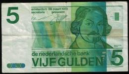Pays Bas Billet De Banque Banknote Vijf Gulden 5 Florins Joost Van Den Vondel - [2] 1815-… : Koninkrijk Der Verenigde Nederlanden