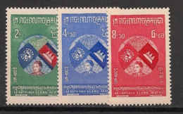 Cambodge - 1957 - N°Yv. 63 à 65 - Série Complète - Neuf Luxe ** / MNH / Postfrisch - Cambodge