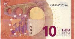 (Billets). 10 Euros 2014 Serie UB , U001D2 Signature Mario Draghi UNC  N° UB 2018030546 - EURO