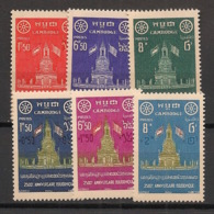 Cambodge - 1957 - N°Yv. 66 à 71 - Série Complète - Neuf Luxe ** / MNH / Postfrisch - Kambodscha