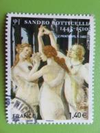 Timbre France YT 509 AA - Série Artistique - Sandro Botticelli - Les Trois Grâces - 2010 - Cachet Rond - Adhesive Stamps