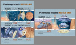 MALDIVES 2019 MNH Mars Polar Lander Space Raumfahrt Espace M/S+S/S - OFFICIAL ISSUE - DH1937 - Space