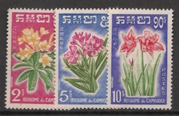 Cambodge - 1961 - N°Yv. 104 à 106 - Fleurs - Neuf Luxe ** / MNH / Postfrisch - Végétaux