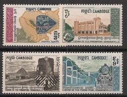 Cambodge - 1970 - N°Yv. 228 à 231 - Chemin De Fer - Neuf Luxe ** / MNH / Postfrisch - Cambodia