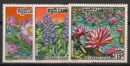 Cambodge - 1970 - N°Yv. 246 à 248 - Fleurs Aquatiques - Neuf Luxe ** / MNH / Postfrisch - Cambodge
