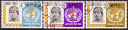 BRUNEI 1968 SG 166-68 Compl.set Used 20th Anniv Of WHO - Brunei (...-1984)