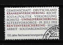 BUND Mi-Nr. 2868 - 100 Jahre Reichsversicherungsordnung Gestempelt (3) - [7] République Fédérale