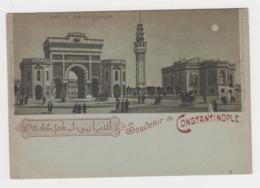 BB432 - TURQUIE - TURKEY - Souvenir De Constantinople - GRUSS - Porte Et Tour Du Séraskérat - Turquie