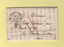 Lorient - 54 - Morbihan - 26 Mai 1843 - 1801-1848: Précurseurs XIX