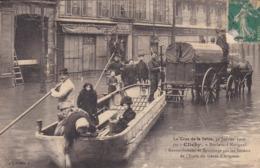 CPA LA CRUE DE LA SEINE 30 JANVIER 1910 CLICHY BOULEVARD NATIONAL - Paris Flood, 1910