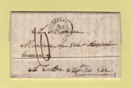 Rochefort - 16 - Charente Inferieure - 9 Nov 1844 - Marcophilie (Lettres)