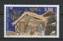 SPM MIQUELON 1997 N° 662 ** Neuf MNH Superbe C 2,10 € Noël Christmas La Crèche - Unused Stamps