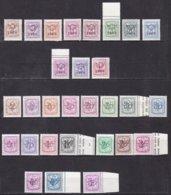 Belgique, Préoblitérés - Timbres ** Différents De 1966 à 1976 - Unclassified