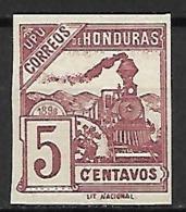 HONDURAS    -   1898 .  Y&T N°  86a (*).  Train.  Non Dentelé / Erreur De Couleur. - Honduras
