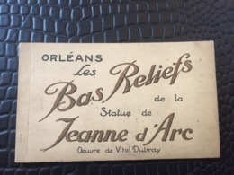 CARNET COMPLET DE 10 CARTES POSTALES ORLEANS LES BAS RELIEFS DE LA STATUE DE JEANNE D'ARC OEUVRE DE VITAL DUBRAY - Orleans