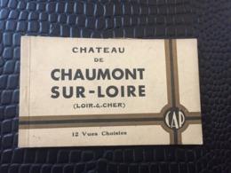 CARNET DE 12 CARTES POSTALES CHATEAU DE CHAUMONT SUR LOIRE EDITION CAP - Altri Comuni