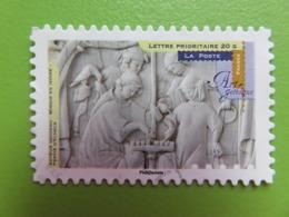 Timbre France YT 879 AA - Série Artistique - Art Gothique - Miroir En Ivoire - Partie D'échecs - 2013 - Autoadesivi