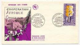 Cote D'Ivoire - Enveloppe FDC - 1er Anniversaire Association économique Europe-Afrique - 1964 - Abidjan - Costa D'Avorio (1960-...)