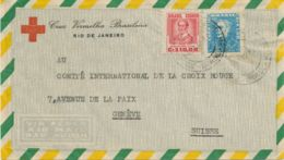 BRAZIL 1956 Airmail-cover From The Brazilian Red Cross To The Intern. Red Cross - Airmail