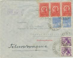 BRAZIL 1938 Airmail-cover With Interesting Mixed Postage RIO DE JANEIRO - PRAGUE - Airmail