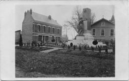 80 CPA ROISEL CARTE PHOTO MONUMENT AUX MORTS MAIRIE - Roisel