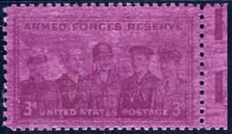 USA 1955 3 C. Merits Of The Army Reserve, Superb U/M, MAJOR VARIETY LILAC COLOUR - Errors, Freaks & Oddities (EFOs)