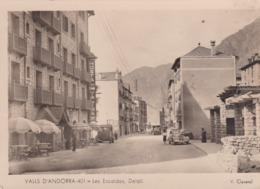 RARE . ANDORRE Cpsm 10x15 . VALLS D'ANDORRA . Les Escaldes . Détail ( Hostal Valira ) Animée - Andorra