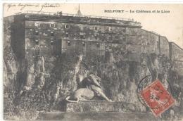 BELFORT . LE CHATEAU ET LE LION . CARTE AFFR SUR RECTO - Belfort – Le Lion