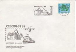 SUISSE :  1984 - Ferphilex 84 - Montreux - Europa - Lettres & Documents
