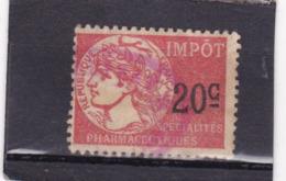 T.F. Spécialités Pharmaceutiques N° 3 - Revenue Stamps