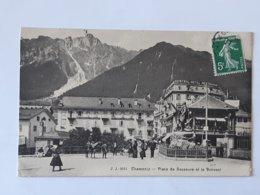 74 - Haute Savoie - Chamonix - Place De Saussure Et Le Brévent Envoyée Vers Le Raincy .. Lot22 . - Chamonix-Mont-Blanc