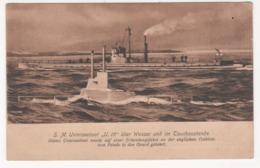 ° CARTE ALLEMANDE ° S.M. UNTERSEEBOOT U. 15 ° SOUS-MARIN ° - Guerre 1914-18