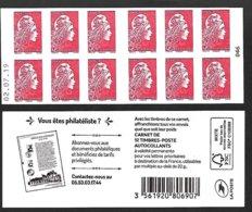 CARNET 12TP YSEULT YZ  - L'ENGAGEE - TVP LP -  Documents Philatéliques - Daté Du 02 07 19 - NEUF - NON PLIE - Usage Courant