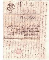 Lunga Lettera Da Viterbo A Orbetello 1843 K502 - Italy