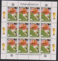 Soccer World Cup 1998 - Football - Turkmenistan - Sheet Perf. MNH - Coupe Du Monde