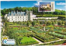 CARTE MAXIMUM: FRANCE:Architecture De La  Renaissance En France :Château De VILLANDRY : 1er Jour 27 Mars 2015 (neuve) - Maximumkarten