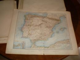 Spanien Und Portugal Volks Und Familien Atlas A Shobel Leipzig 1901 Big Map - Cartes Géographiques
