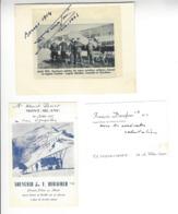 François Durafour (1888 - 1967) 3 Documents SUISSE AVIATION AUTOGRAPHE ORIGINAL AUTOGRAPH /FREE SHIPPING REGISTERED - Autogramme & Autographen