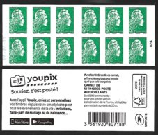 CARNET 12TP YSEULT YZ  - L'ENGAGEE - TVP LV -  Youpix - Daté Du 02 07 19 - NEUF - NON PLIE - Usage Courant