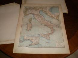 Italien Volks Und Familien Atlas A Shobel Leipzig 1901 Big Map - Cartes Géographiques
