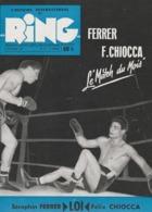 L'officiel International Du RING - Magazine De BOXE N° 93 -  Octobre 1956 - Ferrer/Chiocca - - Boxing